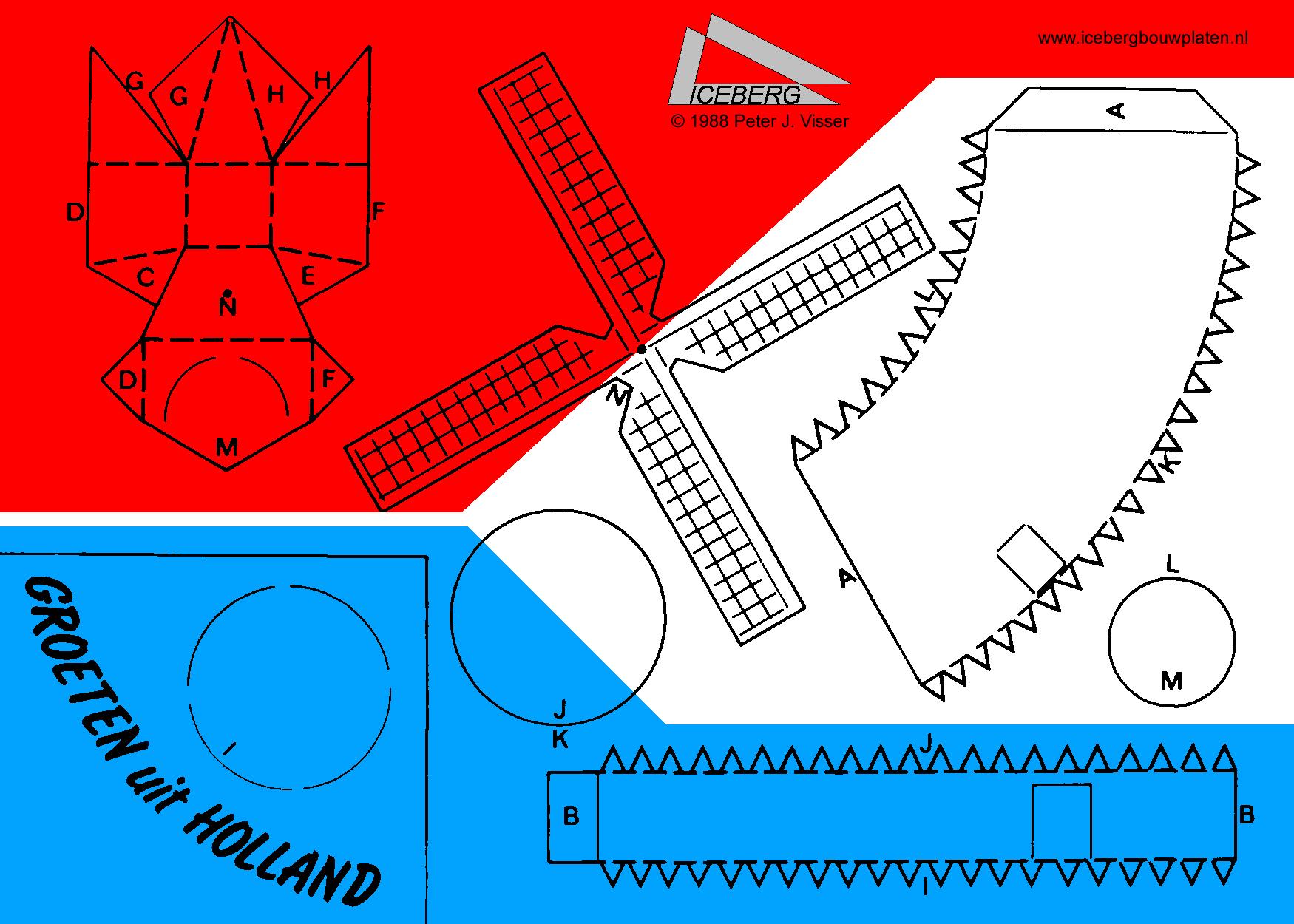 bouwplaat molen